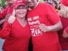 La alcaldesa Amalia Sáez y El Alcalde Richard Coroba